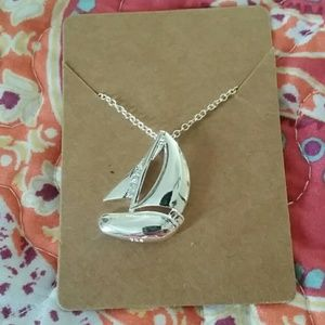 Jewelry - Silver Sailboat Necklace